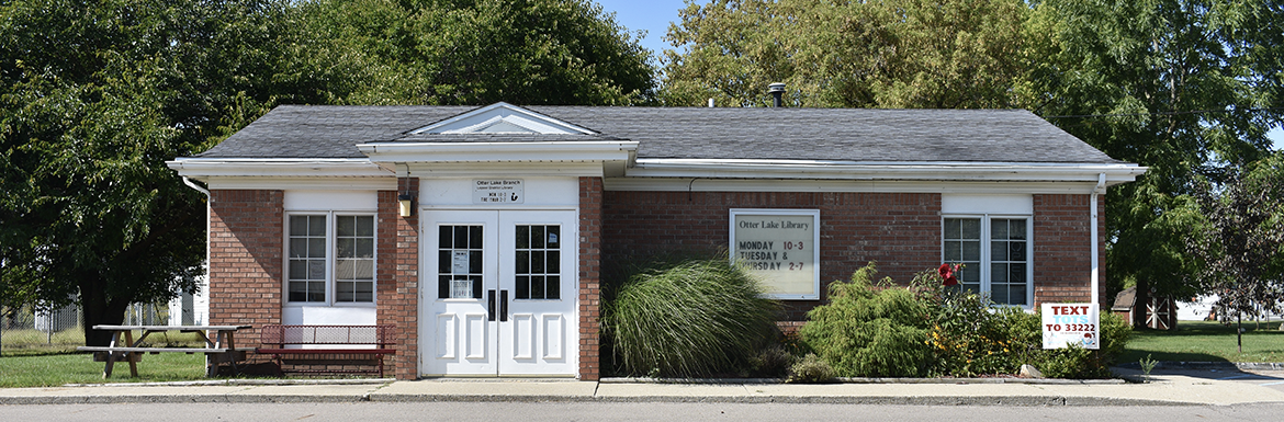 header image of the Otter Lake Branch Library exterior